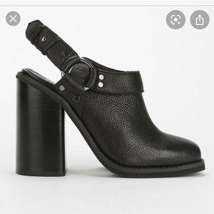 UO Ecoté leather block heels mules
